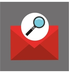 searching email message icon graphic vector image