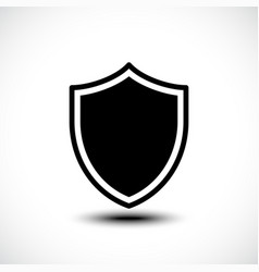 shield protection icon vector image vector image