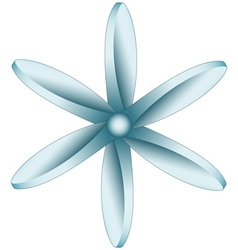 Sixfold propeller icon vector