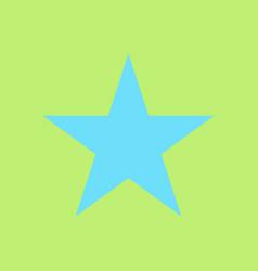 Star flat icon flat rank favorite web symbol vector