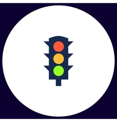 Traffic lights computer symbol vector