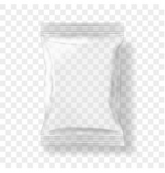 Transparent packaging for snacks chips sugar vector