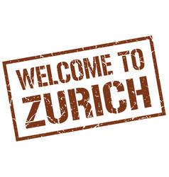 Welcome to zurich stamp vector