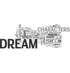 Who did you dream about last night text word vector