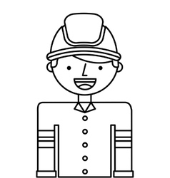 Firefighter man profession icon vector