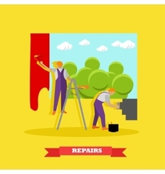 Home interior and room repair banner vector