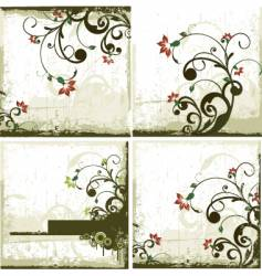 Urban floral backgrounds vector