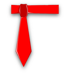 Dads red tie vector