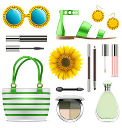 Fashion accessories set 8 vector