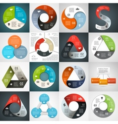 Circle triangle infographics set template for vector