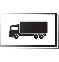 Black truck in frame vector