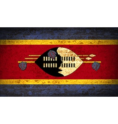 Flags swaziland with dirty paper texture vector