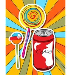pop art graphic vector image