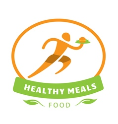 Healthy meals design vector