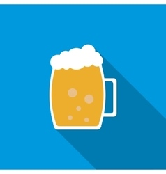 Light beer mug icon flat style vector