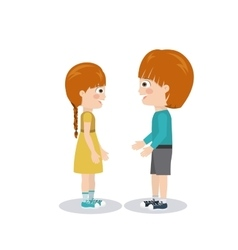 Pair of children design vector