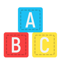 abc blocks flat icon alphabet cubes and education vector image vector image