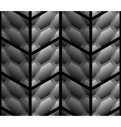 Abstract Striped 3D Hexagons Geometric Seamless vector image vector image