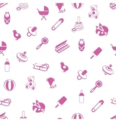 Baby icons pattern vector