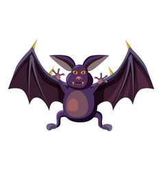 Bat icon cartoon style vector
