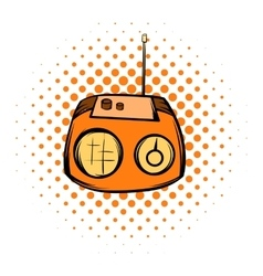 Boom box or radio cassette tape player comics icon vector image vector image