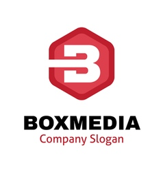 Box media design vector