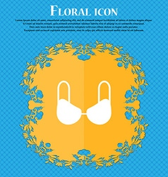 brassiere top icon sign Floral flat design on a vector image vector image