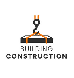 building construction logo template vector image