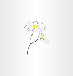 chamomile icon design vector image vector image