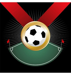 Championship medal vector image vector image