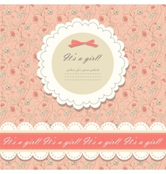 Color pink floral background vector image vector image