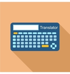 Electronic device to translate icon flat style vector