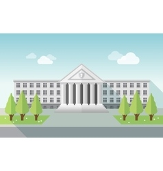 Front view of university or government building in vector