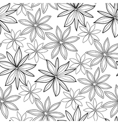 Graphic cardamom pattern vector