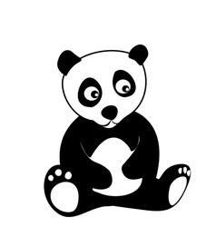Little panda vector image vector image