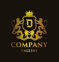 luxury letter d logo vector image vector image