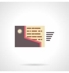 Mailbox flat design icon vector image vector image