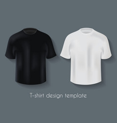 male t-shirts design template set vector image vector image