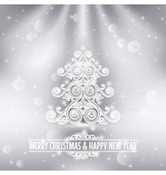 Merry christmas happy new year holiday background vector