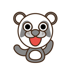 Panda baby animal kawaii design vector