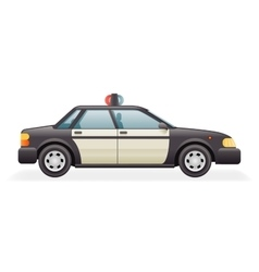 Retro Police Car Icon Isolated Realistic 3d Design vector image vector image