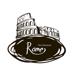 rome the colosseum vector image vector image