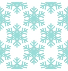 Seamless pattern with snowflakes on white vector