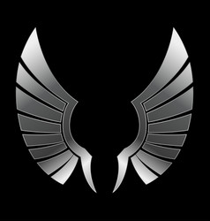 Silver wing vector