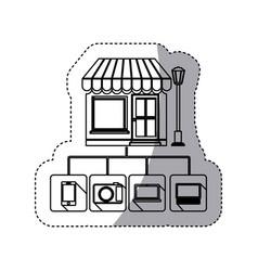 Store online icon stock vector