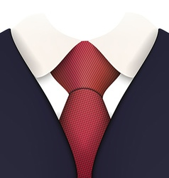 Suit with Necktie Close up vector image
