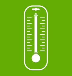 Thermometer icon green vector