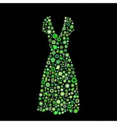 women dress shape vector image vector image
