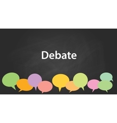 Debate graphic vector