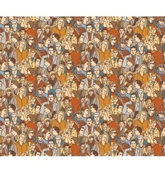Crowd people color seamless pattern vector